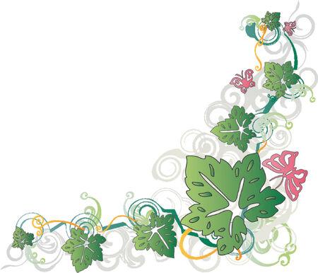 Floral Border (Vector)