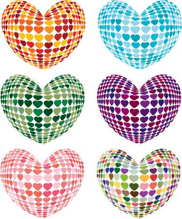 Heart Shape Techno  Vector