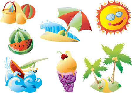 Summer Beach Clip-art Stock Vector - 1156229