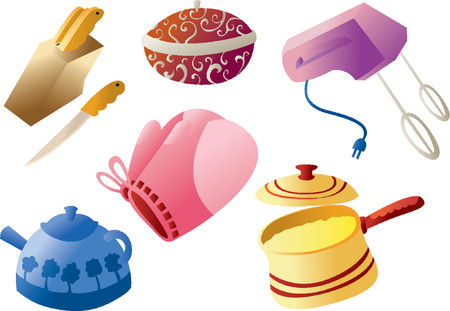 eating utensil: Kitchenware Cliparts Illustration