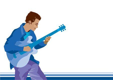 rockstars: A man playing guitar