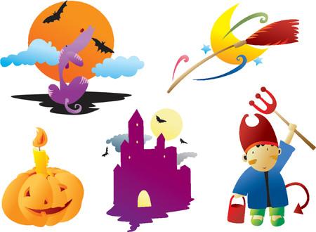 harvest moon: Halloween Clip arts