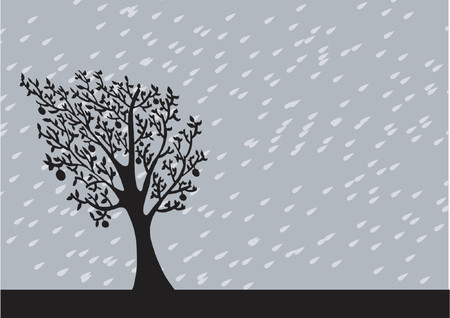 Rainny Background Stock Vector - 1326156