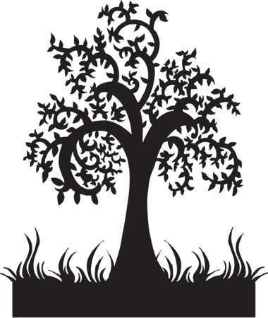 Silhouette Tree Vector Illustration