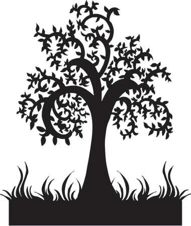 Silhouette Tree Vector Illustration