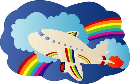 Airplane travel Illustration