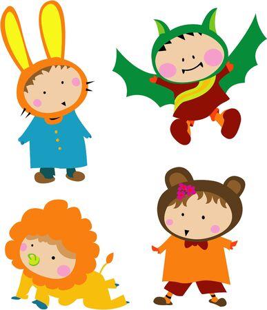 Cute Kid Costume Illustration