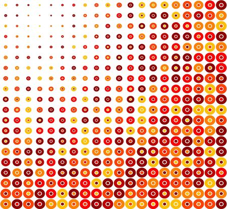 Red Circle Retro Background