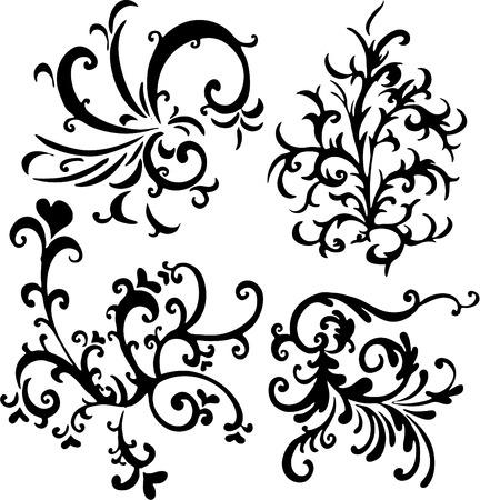 ornamental vector design elements  Illustration
