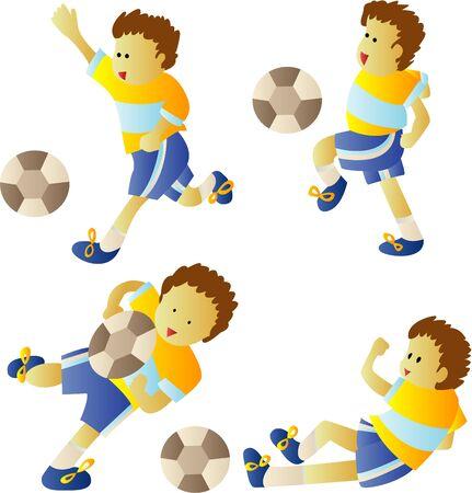 Kid playing soccer