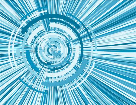 virtual blue pattern vortice di immagini digitali