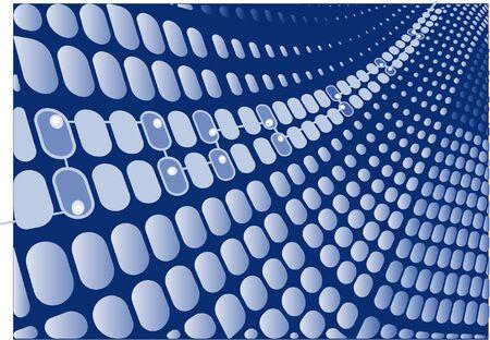 Digital blue wave retro vector background