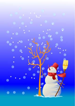 The hopeful snowman Stock Vector - 1858178