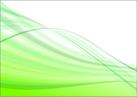 Green wave abstract vector background