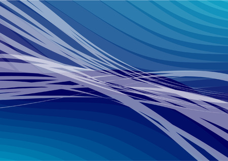 Blue Wave abstract vector background Illustration