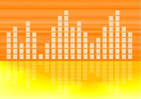 readout: musical volume graph abstract vector background   Illustration