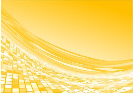Yellow 3d flow vector background