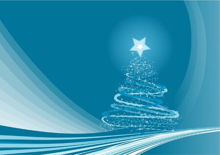 Christmas Background 1 - Blue Abstract Vector