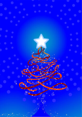Christmas Background 3 - Red Ribbon Vector