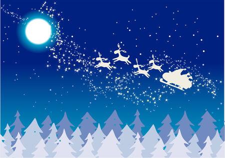 nuit hiver: Contexte de No�l 2 - Winter Night