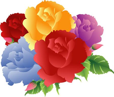 Colorido ramo Roses  Foto de archivo - 2191091