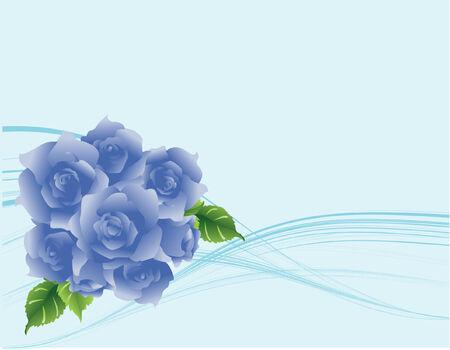 Moderne stroming blauwe rozen achtergrond