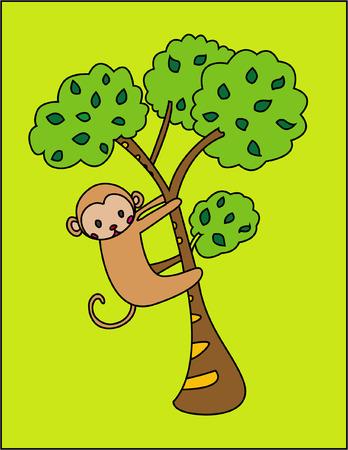 zoologico caricatura: Monkey  Vectores
