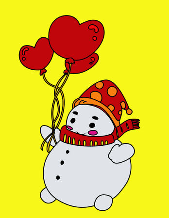 Cute Snowman Stock Vector - 2191085