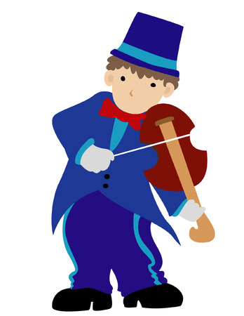 mozart: Playing violin