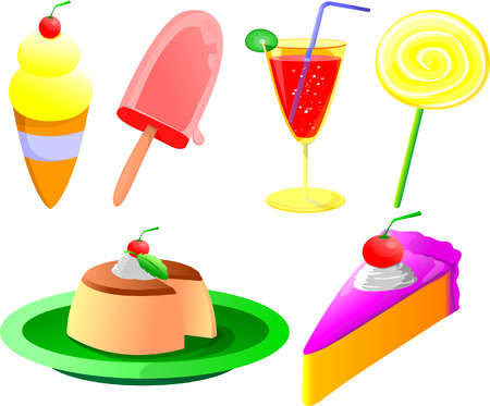 hungry kid: Dessert vector clipart collection
