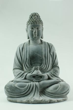 samadhi: black stone buddha carving Stock Photo