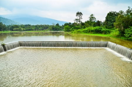 weir: weir in west of thailand Stock Photo