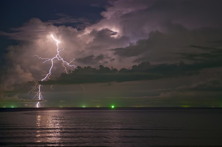 Thunder,Lightning,south of thailand photo