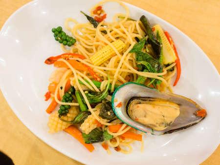 stir fried: spicy stir fried noodle sea.