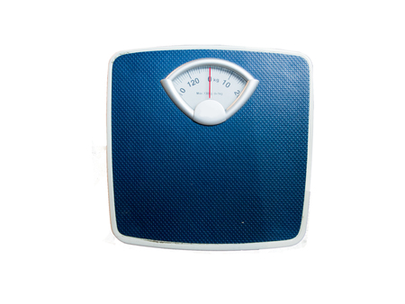 kilograms: Outdoor  scales to monitor body weight. Stock Photo