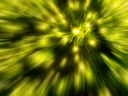smeared: Yellow light zoom effect.Background blur Stock Photo
