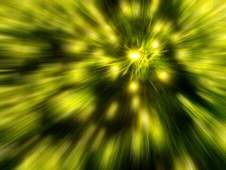 light zoom: Yellow light zoom effect.Background blur Stock Photo
