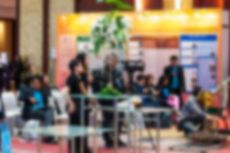 A picture of the atmosphere at the world-class medical conference at the International Convention Center, which has more than 700 participants from all over the world, including many doctors and medical staff. From all over the world, abstract images blurred