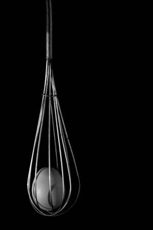churning: whisk an egg