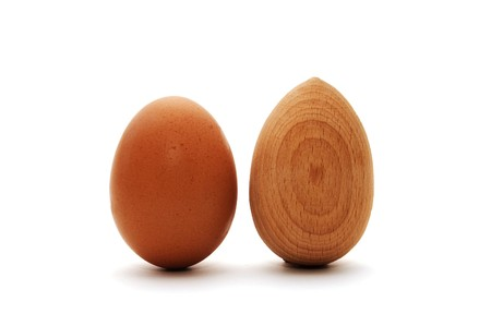impartiality: egg and wood egg
