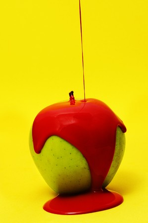 conceal: red apple Stock Photo