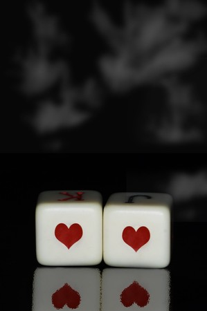 hearts dice photo