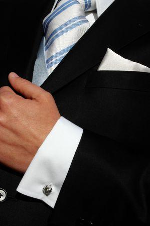 distinction: suit man Stock Photo