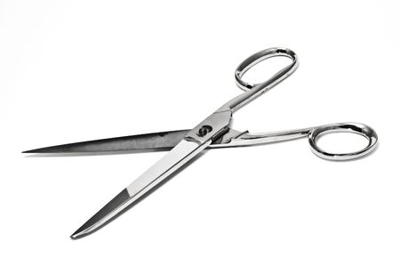 patching: opened scissors