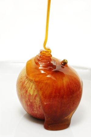 candy apple: apple with honey Stock Photo