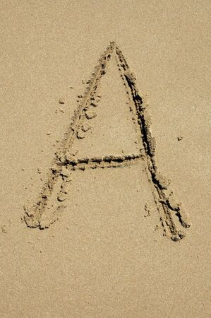a in the sand photo