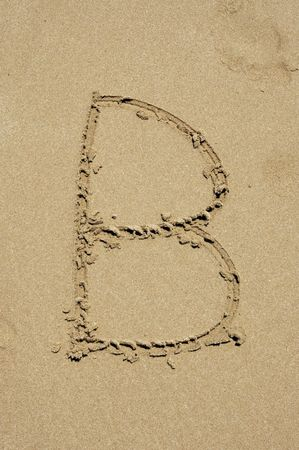 b in the sand photo