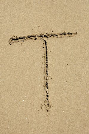 t in the sand photo