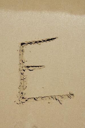 e in the sand photo