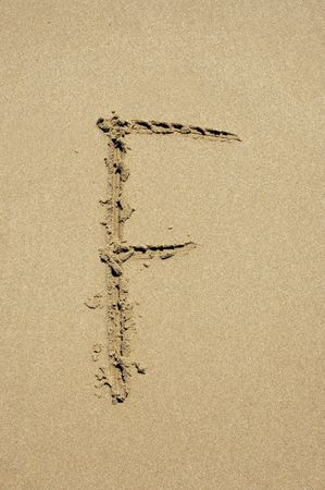 f in the sand photo
